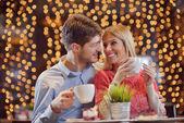 Romantischen Abend Datum — Stockfoto