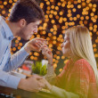 Romantic evening date - Foto Stock