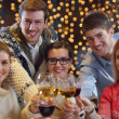 Group of happy young drink wine at party — Stock Photo #19444587