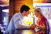 Romantic evening date — Stock Photo