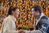 Romantische avond-datum — Stockfoto
