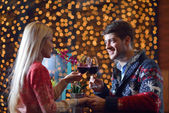 Romantic evening date — Stock Photo