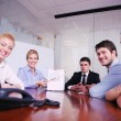 Business in a video meeting - Stock Photo