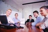 Business in a video meeting — Stock Photo