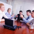 Business in video meeting — Stock Photo #21462353