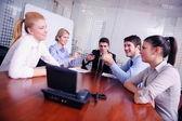 Biznes w spotkaniu wideo — Zdjęcie stockowe