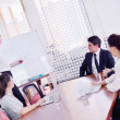 Business in a meeting at office — Foto de Stock