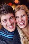 Portrait of a happy young couple — Stock Photo