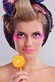 Beautiful Woman Luxury Makeup — Stock Photo
