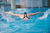 Swimmer woman — Stock Photo