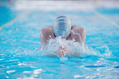 Swimmer woman — Stock Photo