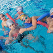 Happy children group at swimming pool — Stock Photo #24789071