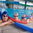 Happy children group at swimming pool — Stock Photo #24789815