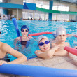 Stock Photo: Happy children group at swimming pool