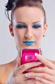 Lüks makyaj ile güzel bir kadın — Stok fotoğraf