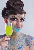 Beautiful Woman with Luxury Makeup — Stock Photo