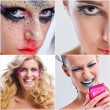 Collage photo of Beautiful Woman with Luxury Makeup — ストック写真
