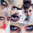 Collage photo of Beautiful Woman with Luxury Makeup — 图库照片