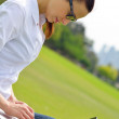 Woman with laptop in park — Stock Photo #28080763