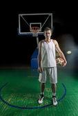 Basketball player portrait — Stock Photo