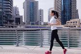 Woman jogging at morning — Stock Photo