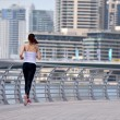 Woman jogging at morning — Stock Photo