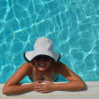 Happy woman in swimming pool — Stock Photo #29812037