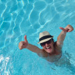 Happy woman in swimming pool — Stock Photo #29814153