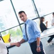 Business people making deal — Stock Photo