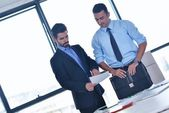 Young businessmen in a meeting — Stock Photo