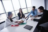 Business people in a meeting at office — Stock Photo