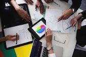 Ludzie biznesu w spotkaniu w urzędzie — Zdjęcie stockowe