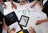 Zakenmensen in een vergadering op kantoor — Stockfoto