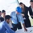 Business people and engineers on meeting — Stock Photo #31741655