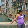 Tourist woman have beautiful vacation time in venice italy — Stock Photo #33733353
