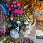 Catering buffet food indoor in luxury restaurant — Stock Photo