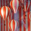 Louis Vuitton - Hot Air Balloons Window  shop — Stock Photo