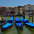 Gondolas on Grand Canal — Stock Photo