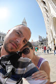 Couple selfportrait in venice — Stock Photo