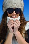 Happy woman at winter — Stock Photo