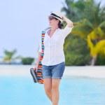 Beautiful girl at beach — Stock Photo