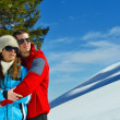 Young couple on winter vacation — 图库照片 #36054193