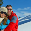 Young couple on winter vacation — Stock Photo #36054361