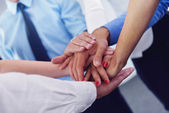 Business people group joining hands — Stock Photo