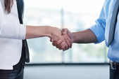 Business people hand shake — Stock Photo