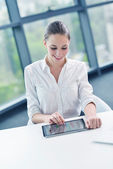 Business woman at office — Stock Photo