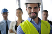 Ludzi biznesu i inżynierów na spotkanie — Zdjęcie stockowe