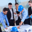 Business people and construction engineers on meeting — Stock Photo #37263703