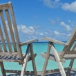 Tropical beach chairs — Stock Photo