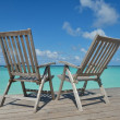 Tropical beach chairs — Stock Photo #37900719